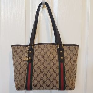 Gucci Monogram Web Jolicoeur Tote AUTHENTIC